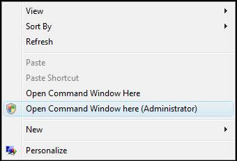 open elevated command prompt desktop