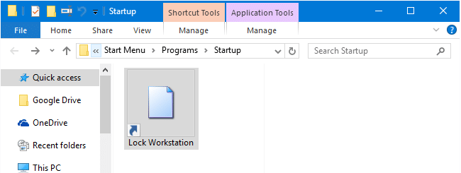 Automatic logon and lock workstation