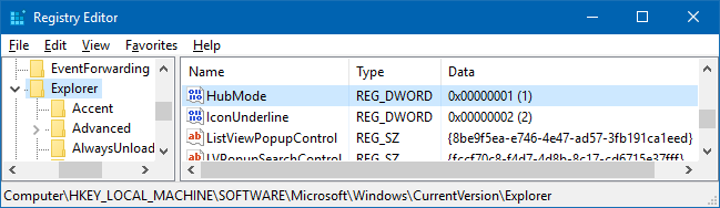 remove quick access in windows 10 v1607