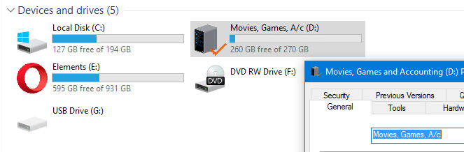 disk space usage free space info missing in this pc
