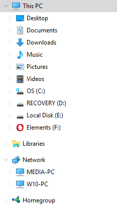 drives appear twice in file explorer