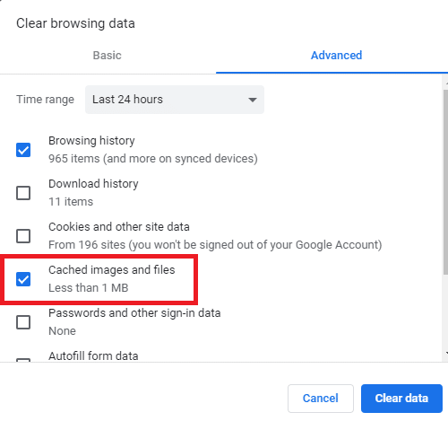 Clear Chrome History and Cookies for a Particular Site