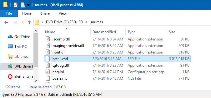 find windows build version from iso file