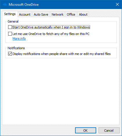 onedrive files on-demand setting missing