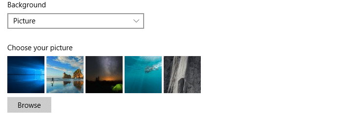 clear wallpaper history in windows 10