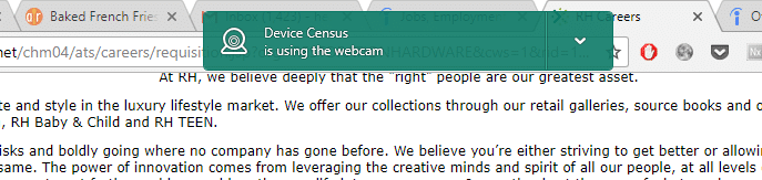 kaspersky device census webcam warning