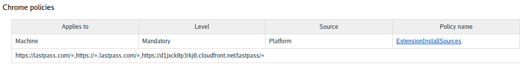 """chrome policies page """"managed by your organization"""""""