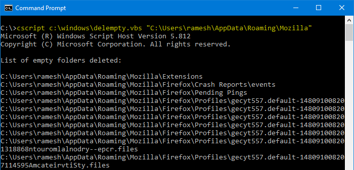 find and remove empty folders