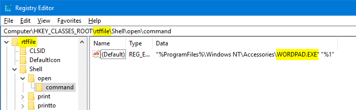 remove unwanted entries in open with menu and dialog
