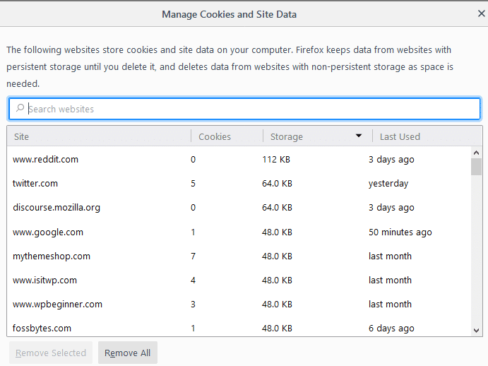 Clear Firefox Cache, Cookies, History for Specific website