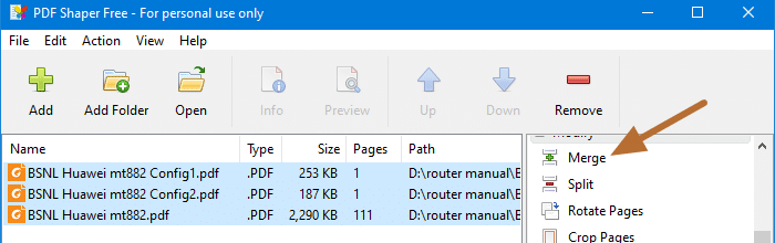 combine or merge pdf files - pdfshaper