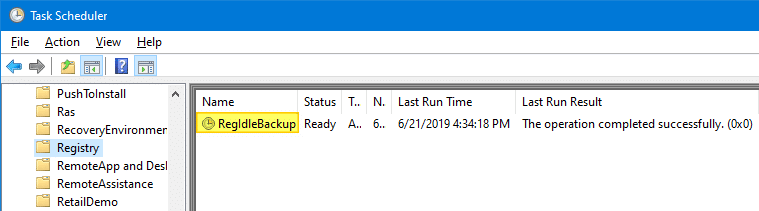RegIdleBackup - Registry Idle Backup Task - Scheduler Registry Backup