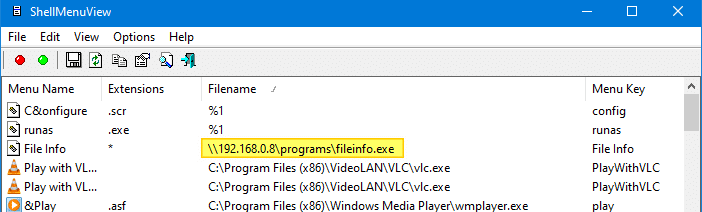 troubleshoot right click Issues Caused by Shell Extensions - shellmenuview