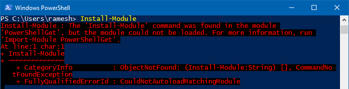install-module command not found