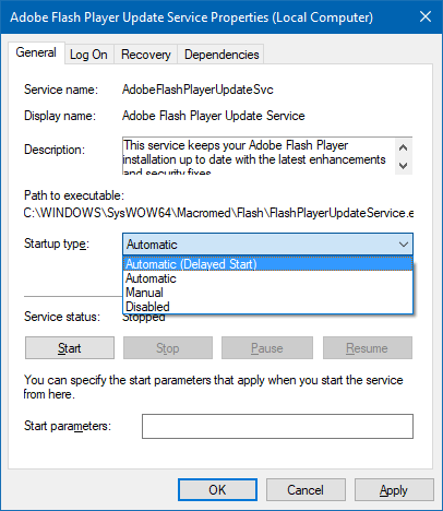 automatic vs automatic delayed start services windows