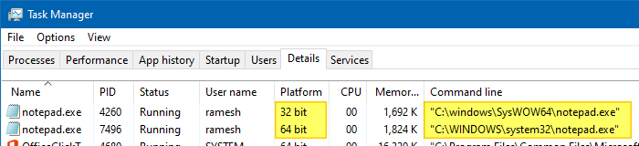 find out if exe is 32-bit or 64-bit