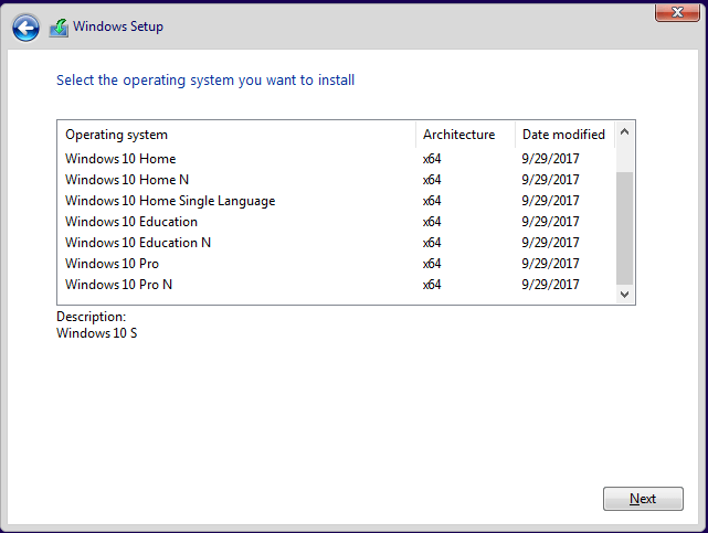 extract specific windows image from multi-edition iso