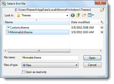 Unsaved Theme Appears in Personalization window